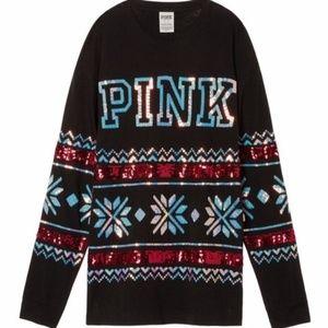 Victoria's Secret Christmas tee long sleeve